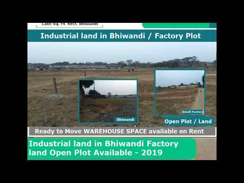 Industrial land in Bhiwandi Factory land Open Plot Available 2019