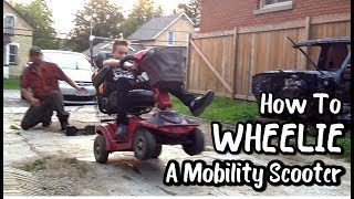 Teaching the Boys How to Wheelie a Mobility Scooter (August 28-29, 2017)