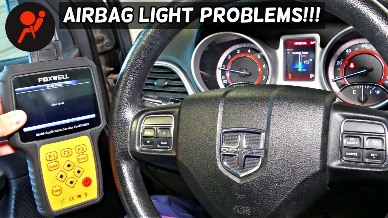 DODGE JOURNEY NO COMMUNICATION WITH AIRBAG MODULE CANNOT CONNECT WITH  AIRBAG MODULE