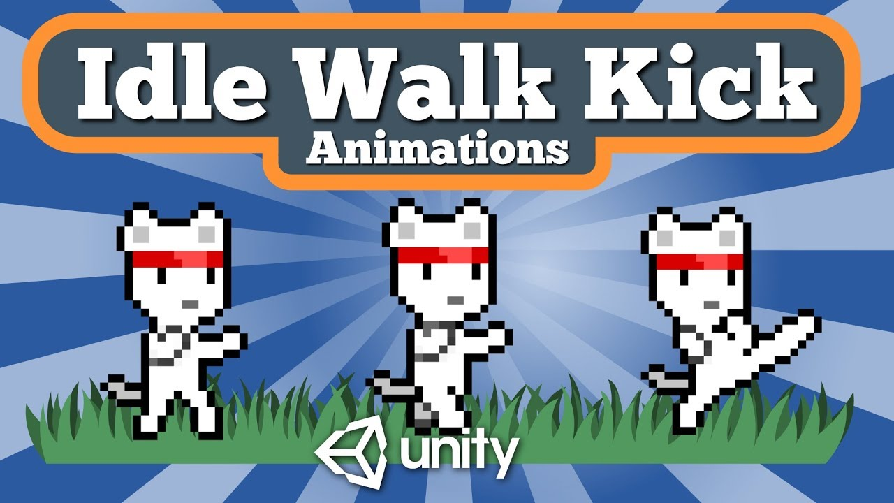 Unity Tutorial About How To Create Idle Walk And Kick Animations For 2D  Game From Sprite Sheet