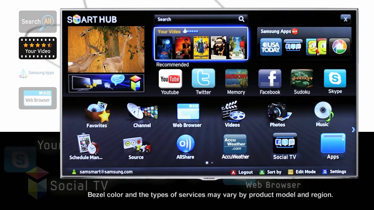 132409 Samsung Smart Tv Led Ue40f5300 How To Use The