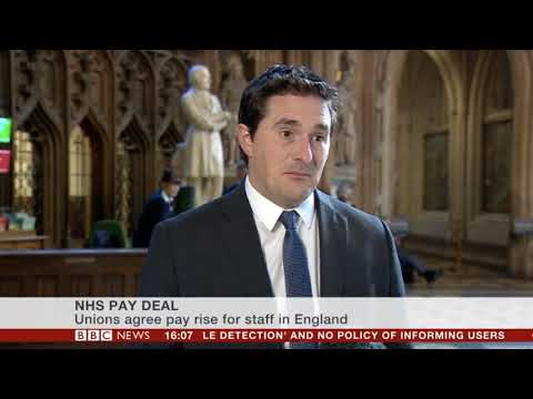 BBC News Channel speaking about the nurses pay rise