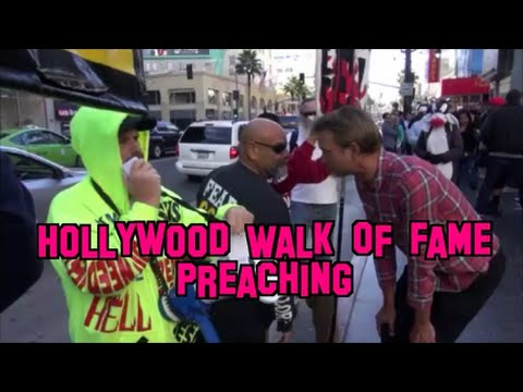 Hollywood Walk Of Fame Preaching / Grauman's Theatre