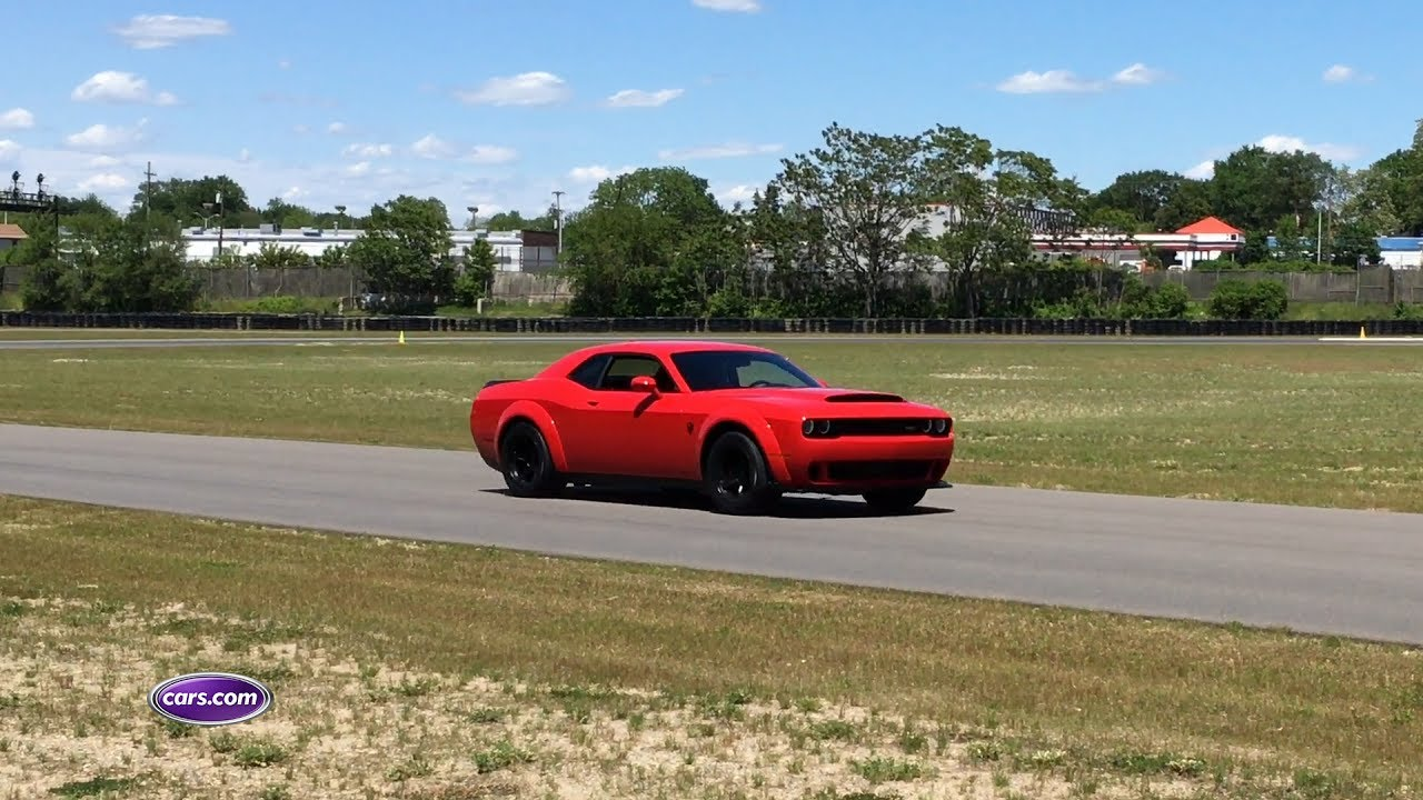 Hear the 2018 Dodge Challenger SRT Demon Under Full Throttle