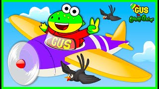 Gus the Gummy Gator Learns How to Fly a Plane for Kids!