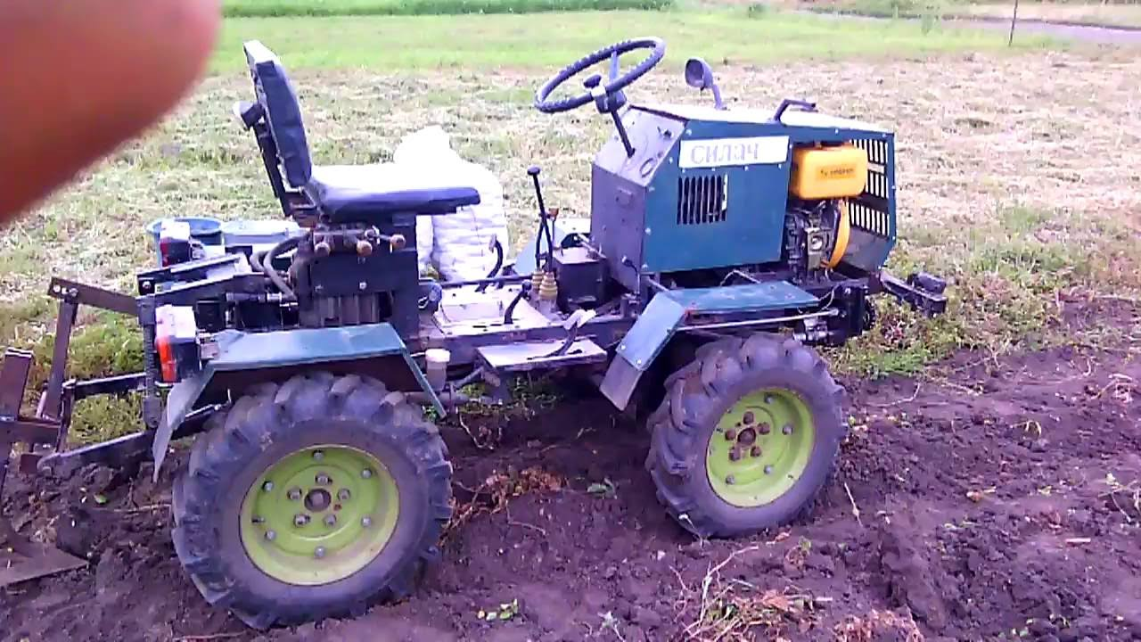 Home Made Tractor Clutch : Homemade tractor digging potatoes funnydog tv