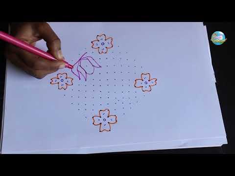 16x2x2 Dots Muggulu | Rangoli Designs | Kolam | Chukkala Muggulu By Suchi Planet