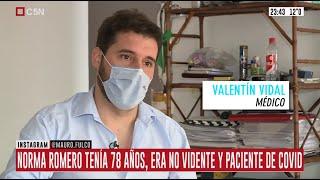 Norma Romero pudo despedirse de su familia gracias a un conmovedor gesto del Dr. Valentín Vidal