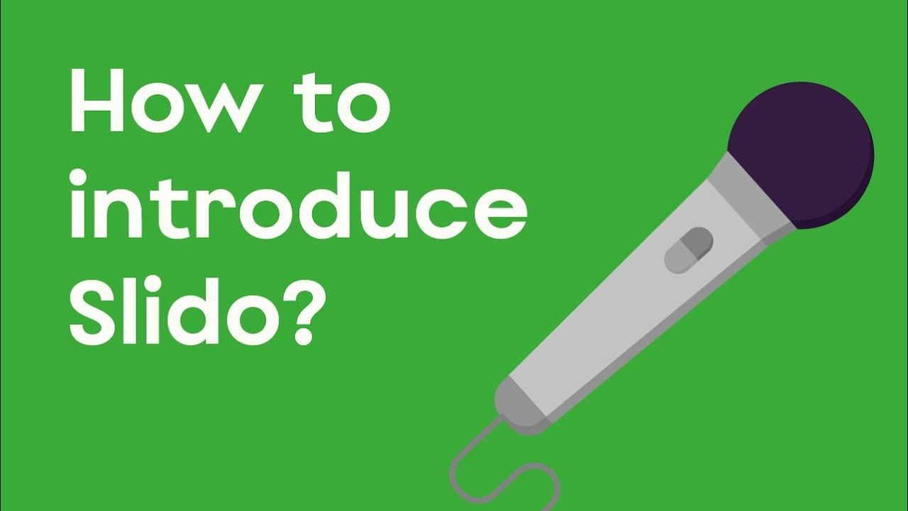 Introduce Slido to your audience