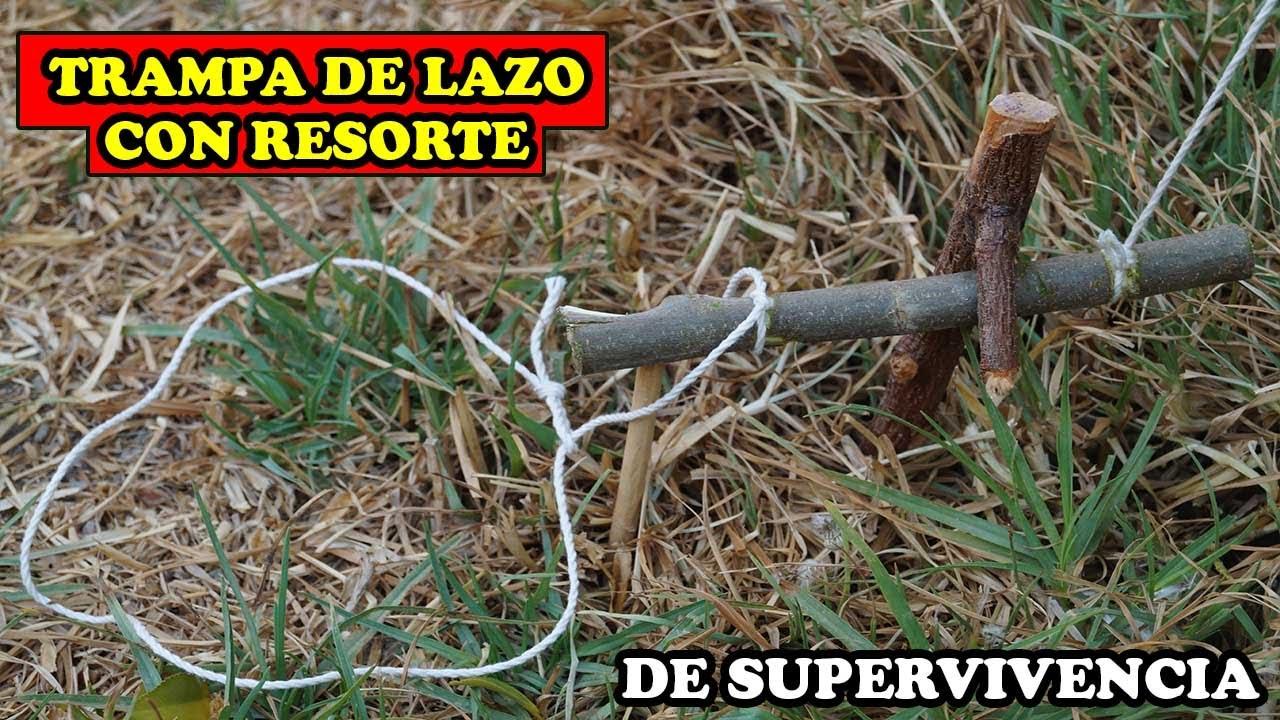 Trampa De Laso Con Resorte De Supervivencia Para CAPTURA EFECTIVA -YMX supervivencia