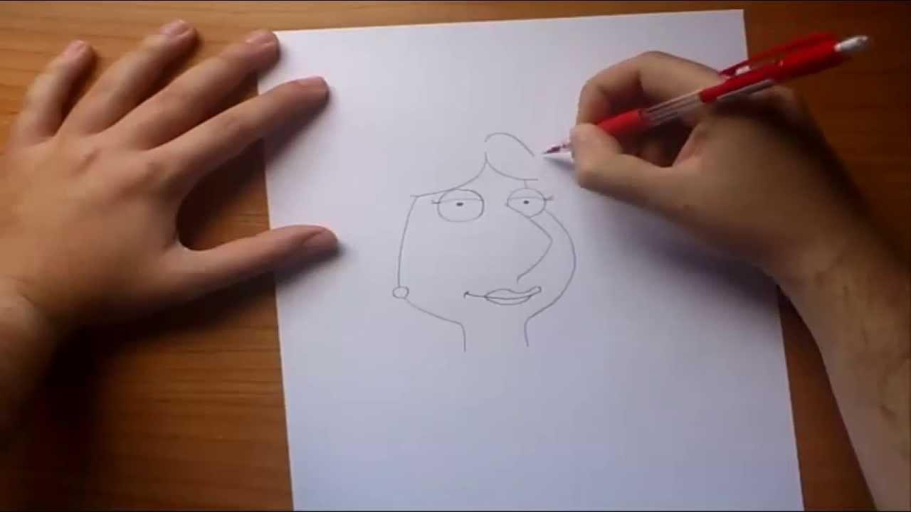 Como dibujar a Lois paso a paso - Padre de familia | How to draw ...