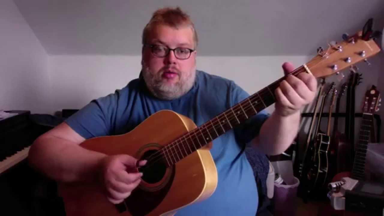 Lær at spille Freight train fingerstyle tutorial på guitar - del2