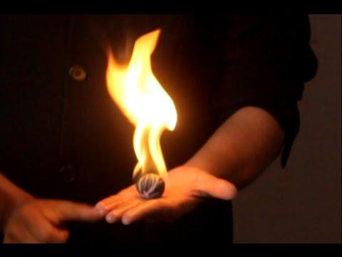 تعلم العاب الخفة # 465   الكرة النارية   .... magic trick revealed