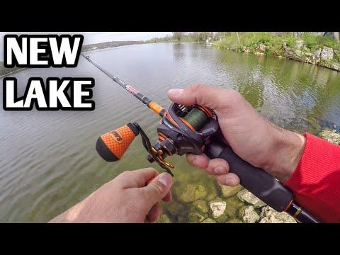 Bank Fishing For Bass At A New Lake (Spring Fishing)