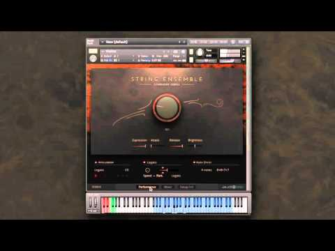 Symphony Series - String Ensemble: Auto Divisi with sustain pedal