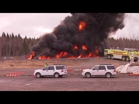 Ted Stevens International Airport Firefighter Training Shot and edit by Michael Nederbrock