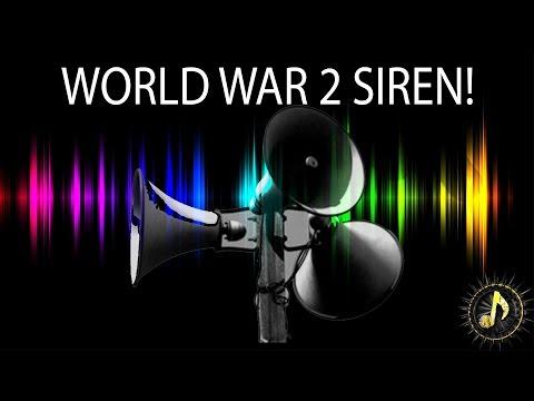World War 2 Air Raid Siren Alarm Sound Effect ~  Free Sound Effects