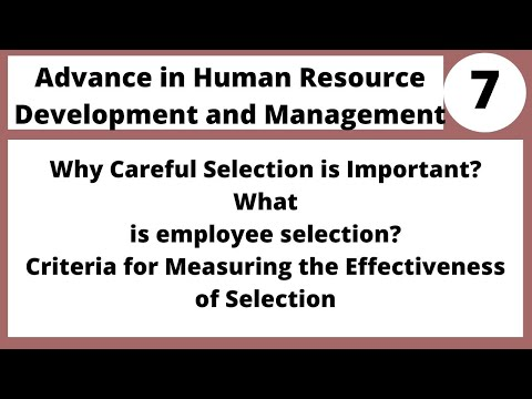 Advance in Human Resources MGT712 LECTURE 07