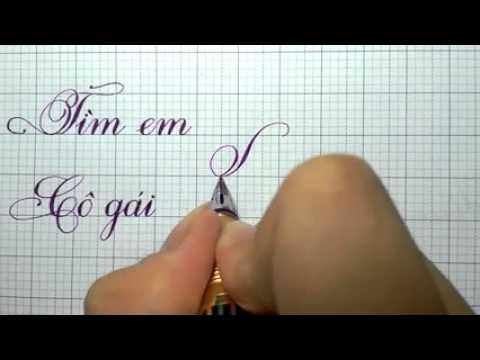 Cùng xem và học cách viết chữ nét thanh nét đậm