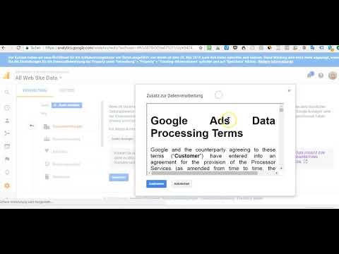 Google Analytics Auftragsdatenverarbeitung (DSGVO) Online Abschliessen - Auftragsverarbeitung