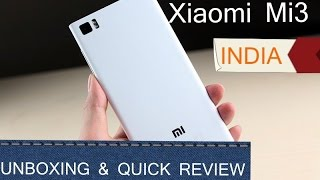Xiaomi Mi3 Unboxing India - First Boot , Initial Setup , Hands On and MIUI Demo
