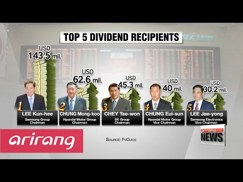 Over 20 shareholders received more than ten billion won in dividends last year