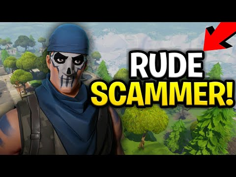 Evil Rude Scammer Scams Himself! Loads of Guns! (Scammer Get