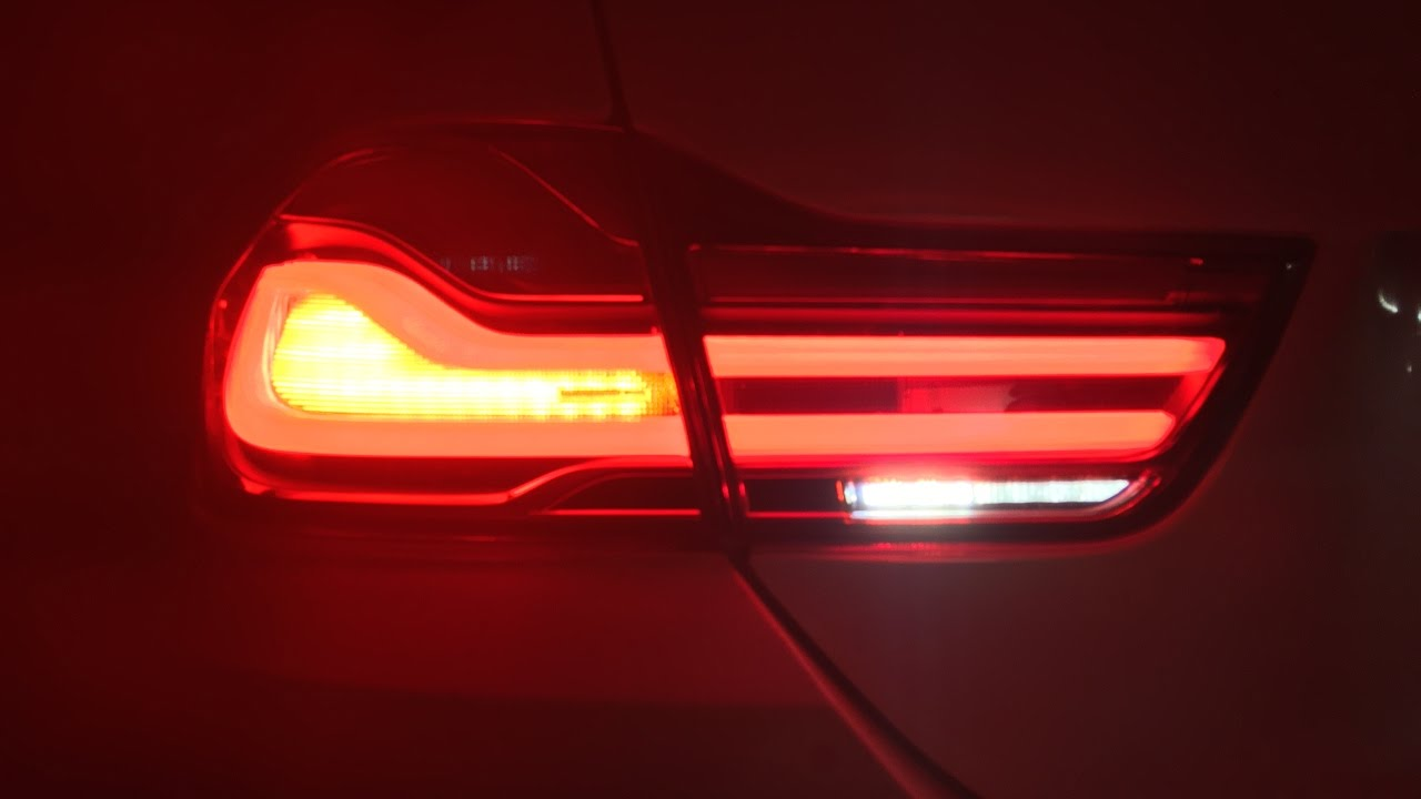 Bmw F32 435i Lci Rear Tail Lights Led Retrofit Youtube