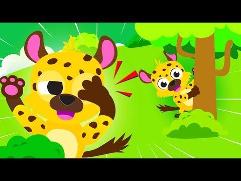 Jungle Animals, Peekaboo, Bouncing Monkeys  ♫ Find All the Animals! Roaring Lion ♫  Little Angel