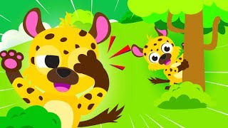 Jungle Animals, Peekaboo, Bouncing Monkeys | ♫ Find All the Animals! Roaring Lion ♫ by Little Angel