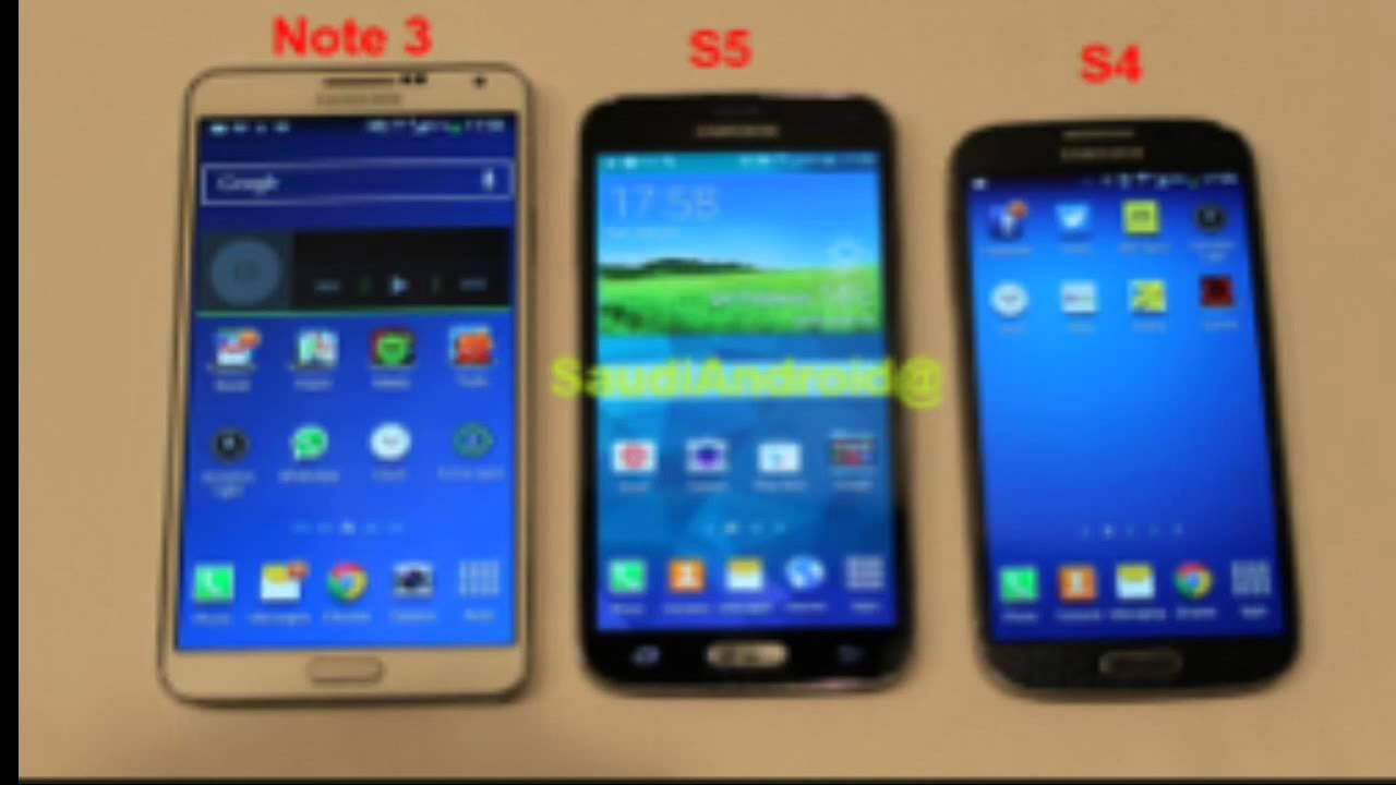 Samsung Galaxy S5 vs Galaxy Note 3 vs Galaxy S4 Hands On - MWC ...