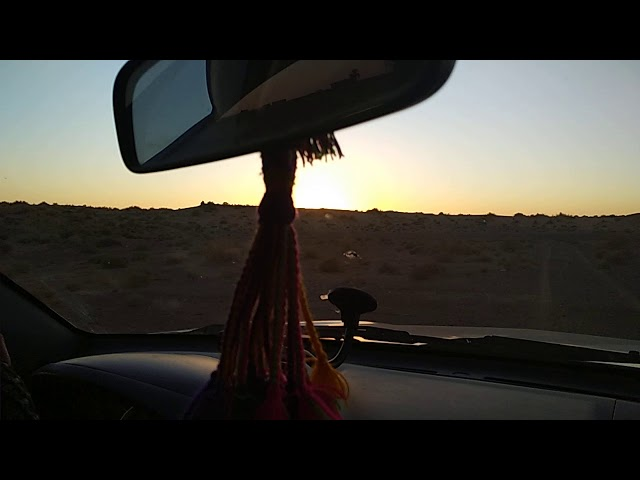 Sunset in the Moroccan desert