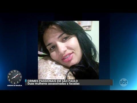 Mulher é assassinada a facadas pelo ex na frente das filhas   Primeiro Impacto (07/12/17)