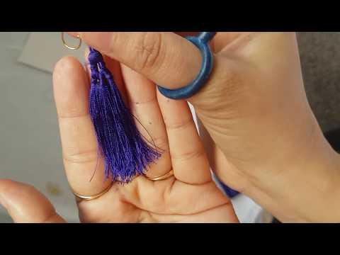DIY STUDIO: multiple tassel in single tassel/ tassel earring/ statement jewellery