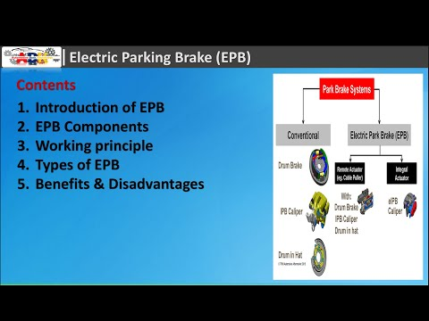 Electric Parking Brake Components, Working principles and Types