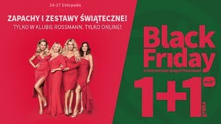 Black Friday w internetowej drogerii Rossmann | 1+1 gratis
