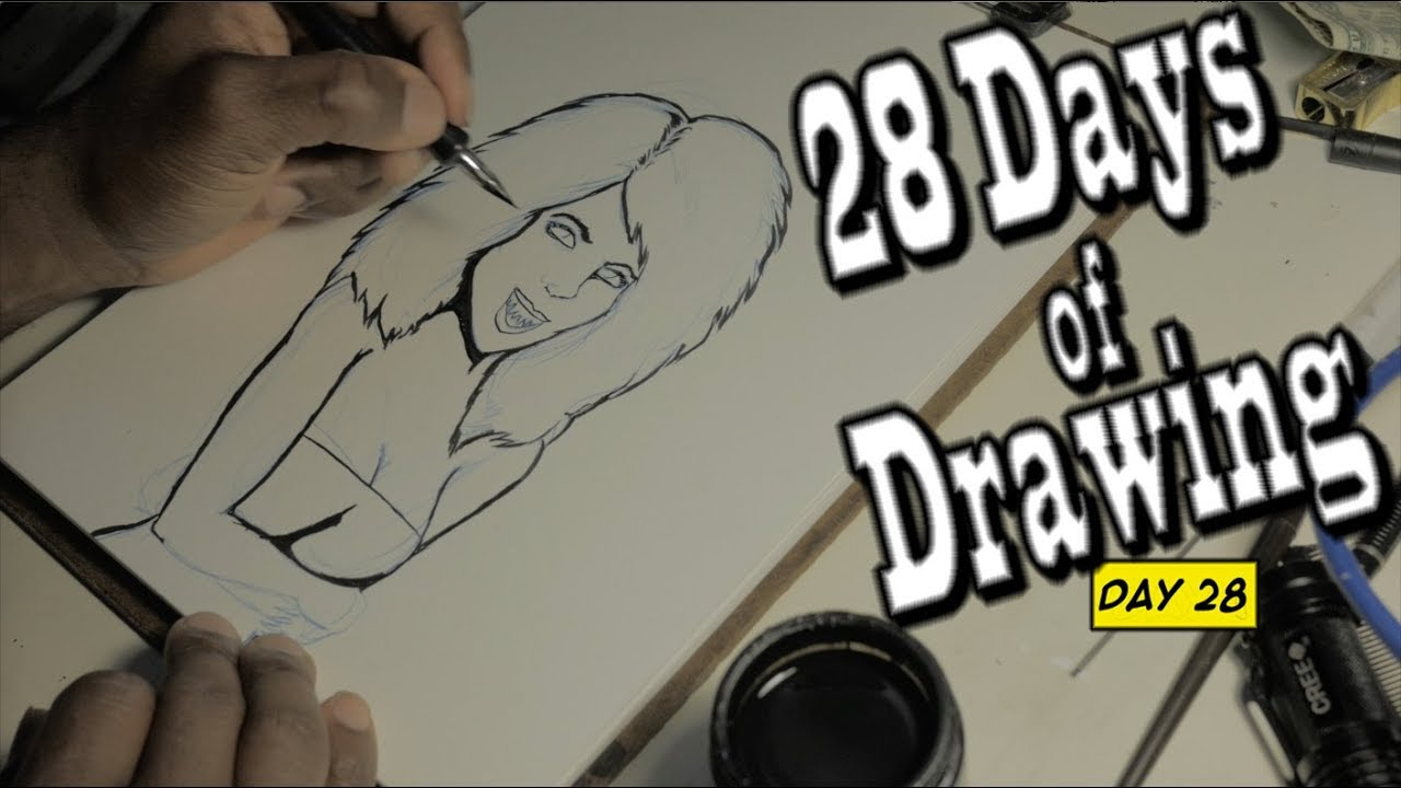The Line Art Challenge Sketches For Days : Day drawing challenge final youtube