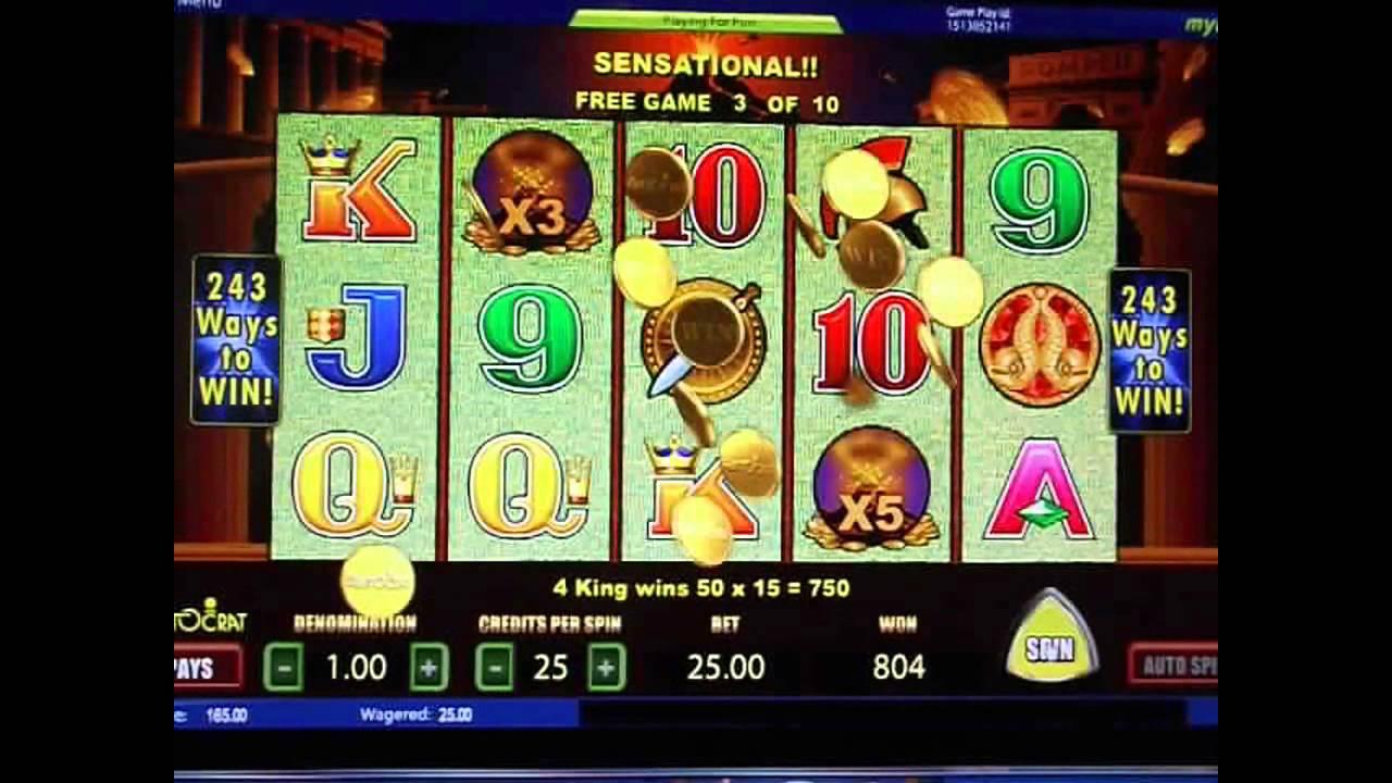 Pompeii Slot Machine Online Play Free Slot Games Youtube