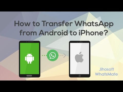 How To Transfer WhatsApp From Android To IPhone XS/XR/X/8?
