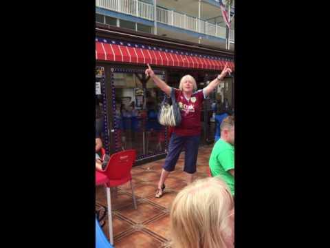 Burnley fan loving life in Benidorm after winning the championship!