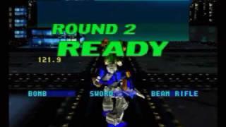 Virtual On: Cyber Troopers (Sega Saturn) Gameplay