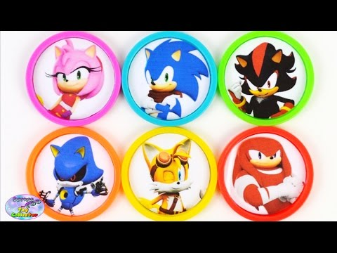 Learn Colors Sonic Boom Amy Rose Shadow Metal Sonic Tails Toys Surprise Egg and Toy Collector SETC