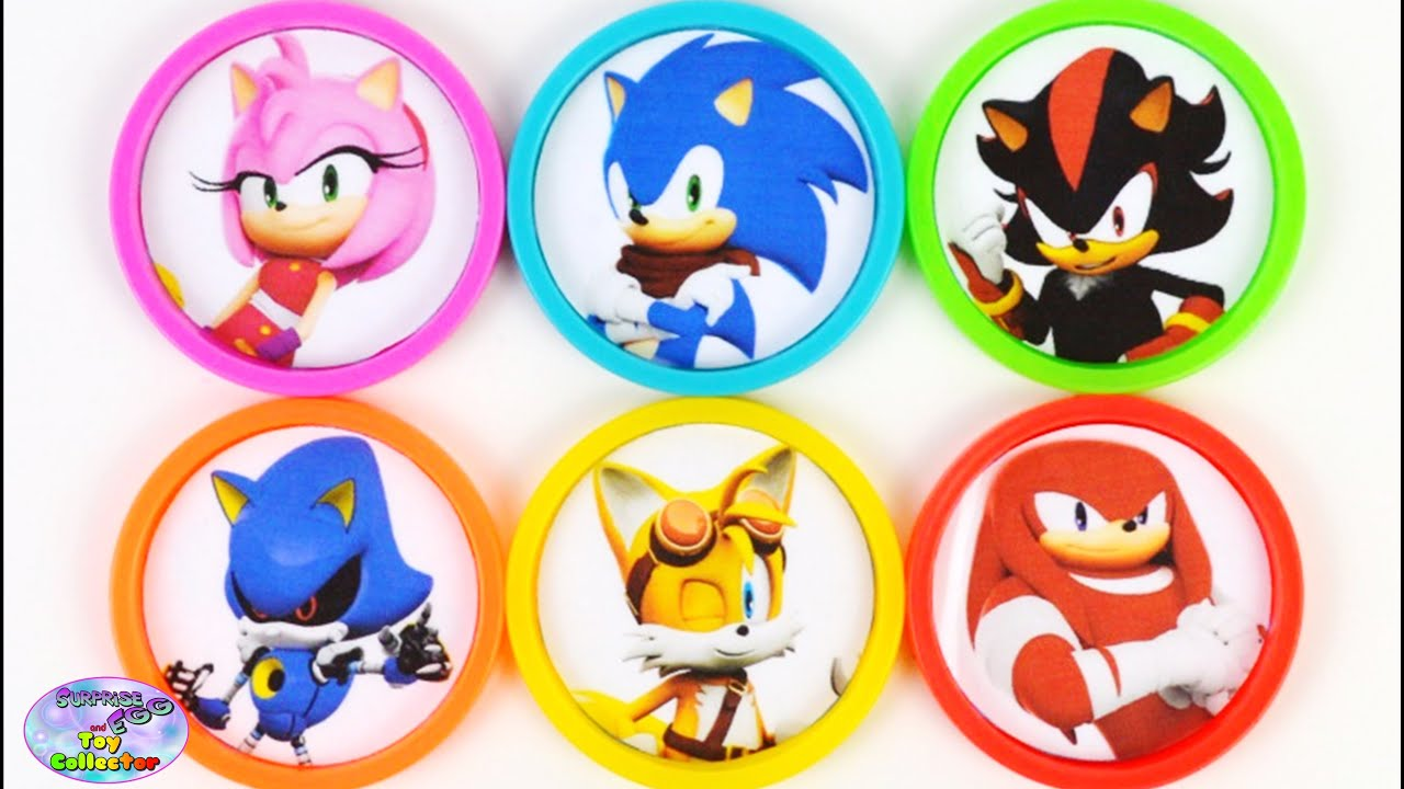 Learn Colors with Sonic Boom Amy Rose Shadow Tails Toys Surprise