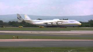 Antonov 225 Take Off from Manchester Airport 26/6/13