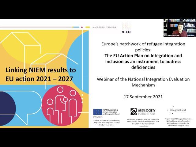Refugee Integration Webinar: Linking NIEM results to the EU Action Plan