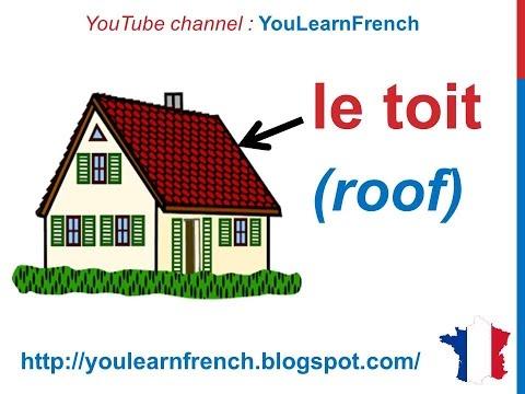 French Lesson 81 - Rooms in the house Vocabulary - Les pièces de la maison - Partes de la casa