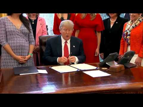 Pres  Trump Signs Bills Promoting Women in STEM Field