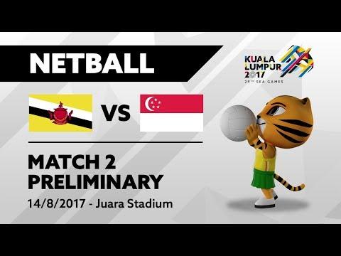 KL2017 29th SEA Games | Netball - BRU 🇧🇳 vs SGP 🇸🇬