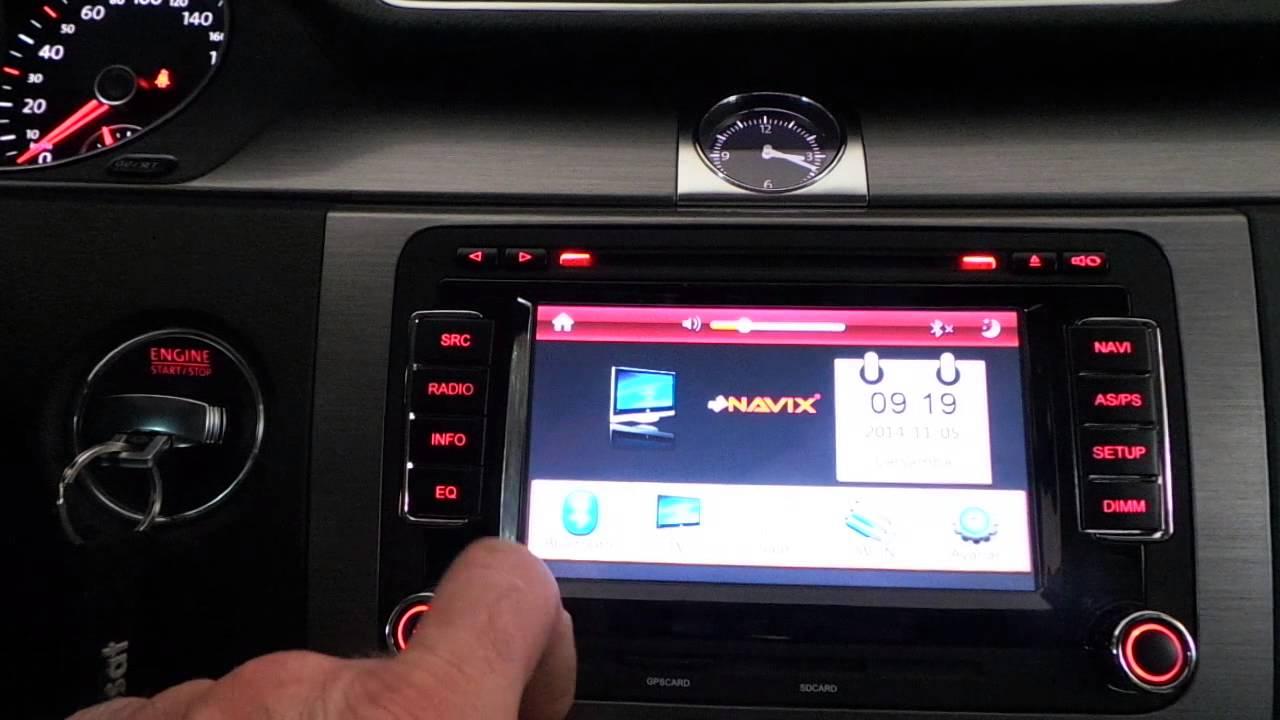 wolkswagen passat oem multimedya navigasyon dvd tv usb ve kafalik monitor uygulamasi youtube