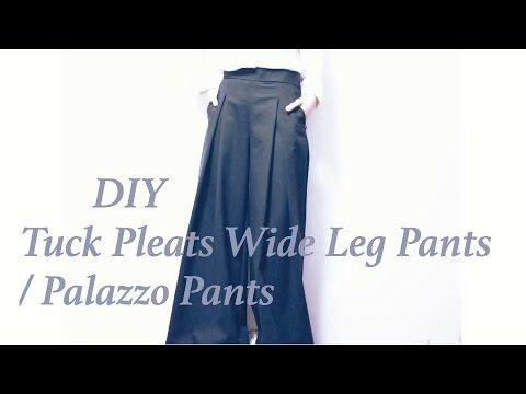 DIY Tuck Pleats Wide Leg Pants / Palazzo Pantsㅣmadebyaya